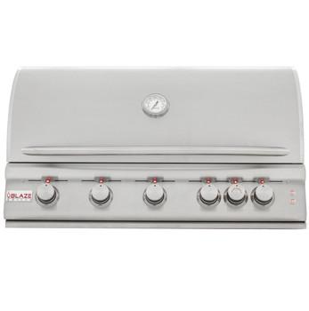 Blaze BLZ-5LTE2-LP 40-Inch 5-Burner Built-In Propane Gas Grill With Rear Infrared Burner & Grill Lights