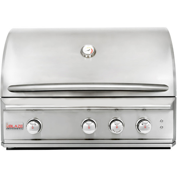 Blaze Professional 34-Inch 3-Burner Built-In Natural Gas Grill With Rear Infrared Burner - BLZ-3PRO-NG