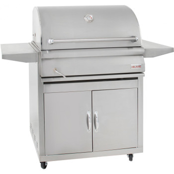 Blaze 32-Inch Built-In Stainless Steel Charcoal Grill With Adjustable Charcoal Tray & Cart - BLZ-4-CHAR/BLZ-4-CART