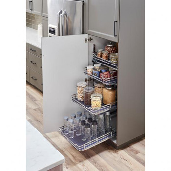 """Hardware Resources 21"""" Black Nickel STORAGE with STYLE Metal Soft-close Pullout Basket SWS-WB213BN"""