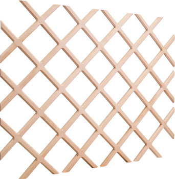 "Hardware Resources 48"" H x 36"" W Oak Wine Bottle Lattice WR48-2OK"