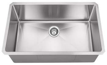 "Hardware Resources 32"" L x 19"" W x 10"" D Undermount 16 Gauge Stainless Steel Single Bowl Sink HMS200"