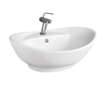 Porcelain White Artistic Bathroom Vessel-TP5918