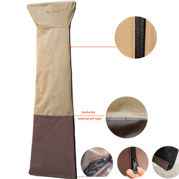 EDEN COVERS Patio Heater Cover for 6 Feet Glass Tube Tower Heaters - Heavy Duty - EC-PHC75H