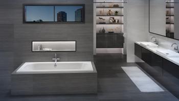 Malibu Jacksonville Rectangular Soaking Bathtub, 72-Inch by 36-Inch by 22-Inch, White or  White