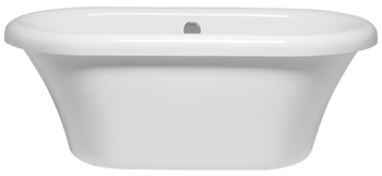 Malibu Leadbetter Freestanding Soaking Bathtub, 66-Inch by 35-Inch by 25-Inch, White or Biscuit