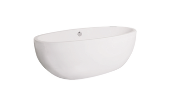 Malibu Salem Freestanding Oval Soaking Bathtub, 60-Inch by 32-Inch by 24-Inch, White or Biscuit