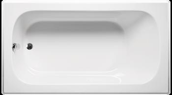 Malibu Sanibel Rectangular Soaking Bathtub, 60-Inch by 30-Inch by 22-Inch, White or Biscuit