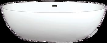 Malibu Sunset Freestanding Bathtub, 58-Inch by 32-Inch by 22-Inch, Matte White or Glossy White