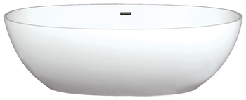 Malibu Sunset Freestanding Bathtub, 71-Inch by 35-Inch by 22-Inch, Matte White or Glossy White