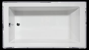 Malibu Venice ADA Rectangular Soaking Bathtub, 58-Inch by 30-Inch by 18-Inch, White or Biscuit