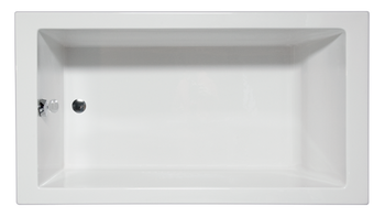 Malibu Venice Rectangular Soaking Bathtub, 58-Inch by 30-Inch by 22-Inch, White or Biscuit