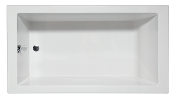 Malibu Venice Rectangular Soaking Bathtub, 72-Inch by 36-Inch by 22-Inch, White or Biscuit
