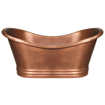 Whitehaus WHCT-1001-OCH Freestanding Copper Tub In Hammered Copper Finish