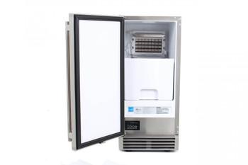 Blaze 50 LB. 15 Inch Outdoor Ice Maker with Gravity Drain - BLZ-ICEMKR-50GR