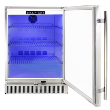 "Blaze Outdoor Rated Stainless 24"" Refrigerator 5.2 cu. ft. - BLZ-SSRF-50DH"