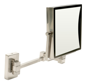 "ALFI brand ABM8WS-BN 8""  Square Wall Mounted 5x Magnify Cosmetic Mirror"