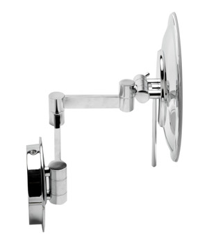 "ALFI brand ABM9WLED-PC Polished Chrome Wall Mount Round 9"" 5x Magnifying Cosmetic Mirror with Light"