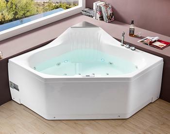 EAGO AM168ETL 5 ft Rounded Corner Acrylic Whirlpool Bathtub for Two