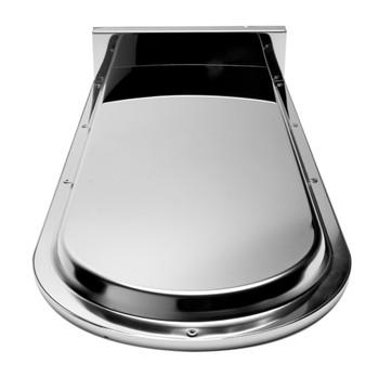 "ALFI brand RAIN10RW-PC Polished Chrome 10"" Wall-Mounted Square Waterfall Rain Shower Head"