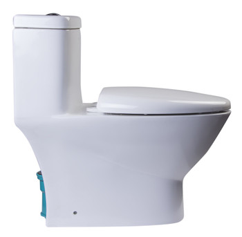 EAGO TB346 MODERN DUAL FLUSH ONE PIECE ECO-FRIENDLY HIGH EFFICIENCY LOW FLUSH CERAMIC TOILET