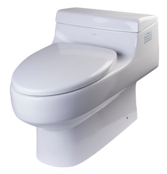 EAGO TB352 ONE PIECE SINGLE FLUSH ECO-FRIENDLY CERAMIC TOILET