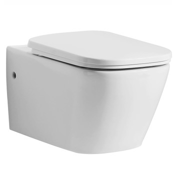 EAGO WD390 White Modern Ceramic Wall Mounted Toilet Bowl