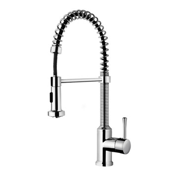 Residential Spring Coil Kitchen Faucet In Polished Chrome N96565-PC