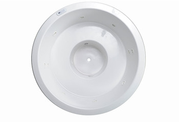 "CLARKE Escape FS W6060FS-01 - 60"" Round Whirlpool Bathtub In White"
