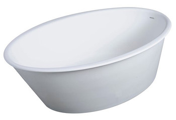 Clarke CA5836FS-00 OVAL ONE Freestanding Bathtub In Satin White FREE SHIPPING