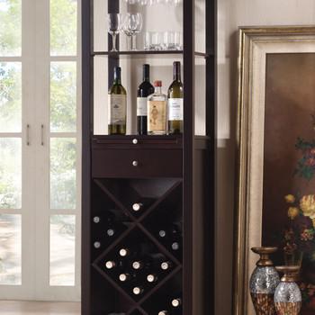 ACME 12244 Casey Wine Cabinet, Wenge