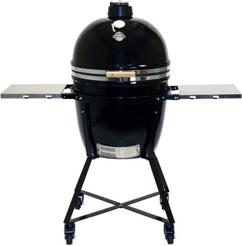 "GRILL DOME Infinity X2 L 18"" Diameter Kamado - In BLACK - Complete With Domemobile & Side shelves - GSL-BK-DM"