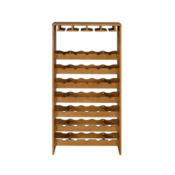 ACME Hanzi Wine Cabinet, Oak Finish