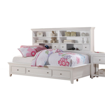 ACME Lacey Daybed w/Storage (Full), White (1Set/3Ctn)