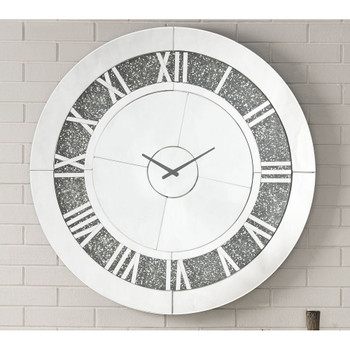ACME 97723 Noralie Wall Clock, Mirrored & Faux Diamonds