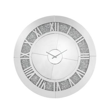 ACME Noralie Wall Clock, Mirrored & Faux Diamonds