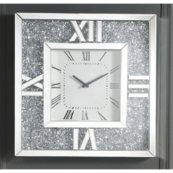 ACME 97727 Noralie Wall Clock, Mirrored & Faux Diamonds