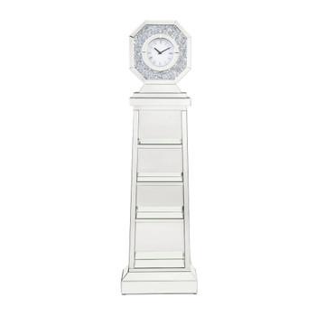 ACME Noralie Grandfather Clock, Mirrored & Faux Diamonds