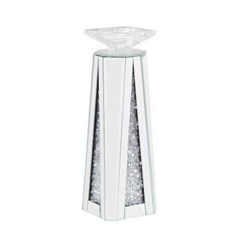 ACME Nowles Accent Candleholder (Set-2), Mirrored & Faux Stones