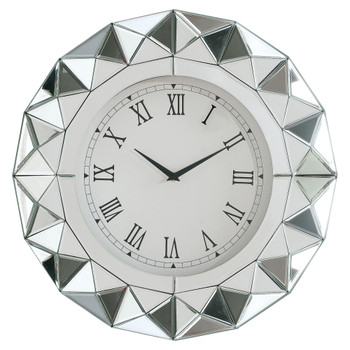 ACME Nyoka Wall Clock, Mirrored