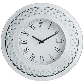 ACME Nysa Wall Clock, Mirrored & Faux Crystals