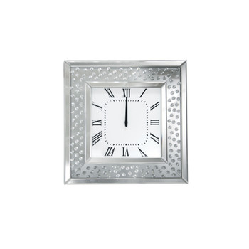 ACME Nysa Wall Clock, Mirrored