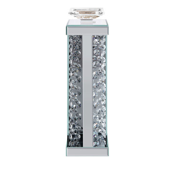 ACME Nysa Accent Candleholder (Set-2), Mirrored & Faux Crystals