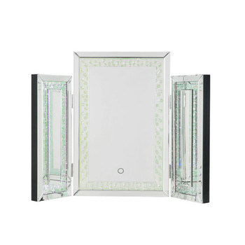 ACME Nysa Accent Decor w/LED, Mirrored & Faux Crystals