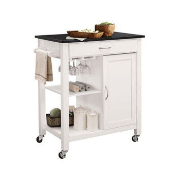 ACME Ottawa Kitchen Cart, Black & White