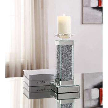 ACME 97615 Rekha Accent Candleholder (Set-2), Mirrored