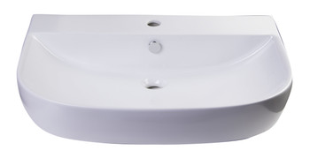 "ALFI brand AB112  28"" White D-Bowl Porcelain Wall Mounted Bath Sink"