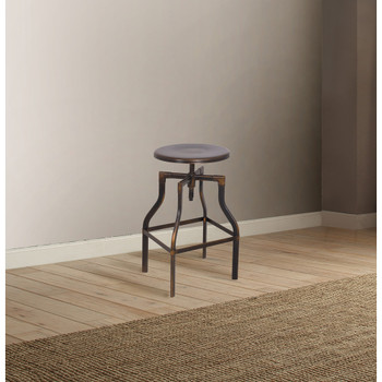"""ACME 96638 Xena Adjustable Stool with Swivel (1 Piece), Antique Copper, 24""""-30"""" Seat Height"""