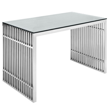 Gridiron Stainless Steel Office Desk EEI-1450-SLV