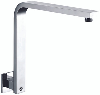 "ALFI brand AB12GSW-PC Polished Chrome 12"" Square Raised Wall Mounted Shower Arm"